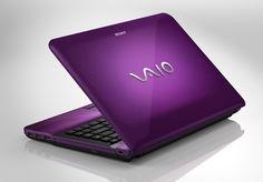 Sony vaio purple. I love My Purple Computer!!!