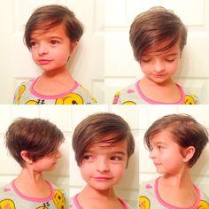 Little girl's haircut, little girl's hairstyle, pixie cut, short hair, short hairstyle, pixie hairstyle