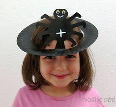 Tvoření čarodějnice, Halloween - Klobouček pavouček
