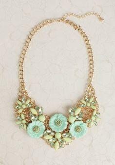 Monet's Garden Necklace In Green | Modern Vintage Jewelry | Modern Vintage Accessories