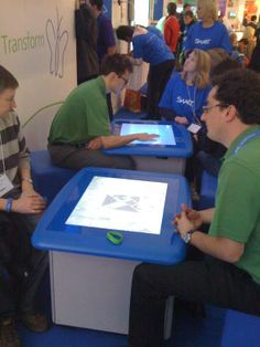 """Quote from Bett:  """"I have to say I like the idea of multi-touch tables and some of the children that I saw using them at demo during BETT were naturally collaborating, communicating and learning."""""""