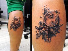 Image result for tatuajes de muñecos vudu