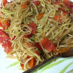 super spicy papaya salad :)