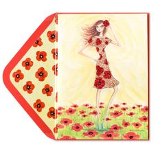 Bella Pilar Girl In Poppy Dress Price $5.95 @ Papyrus