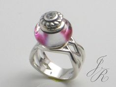 Woven Bead Ring  - Interchangeable Bead Jewelry - ReginasDreamCreation, $179.00