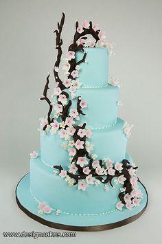 Cherry blossom wedding cake.. I love cherry blossoms!!!!!