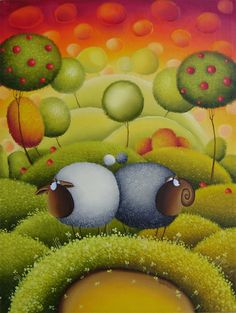 Sheep by #Gabriele_Elgaafary for more work: http://www.globalvernissage.com/contemporary/art/Gabriele-Elgaafary-Lithuania-Art.html