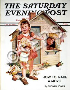 """""""No Girls Allowed"""" is a painted illustration by Norman Rockwell for the October 9, 1937 edition of The Saturday Evening Post."""