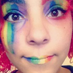 I'm free to be who ever the fuck I wanna be #makeup#free#rainbow#fierté #cosplay#cosplaymakeup #pride #arcenciel #gaypride#lgbt