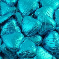Chocolate Hearts - Turquoise Foil Wrapped (Pack of - A Wedding Less Ordinary Whole Milk Powder, Sweet Trees, Party Sweets, Chocolate Hearts, Mini Heart, Turquoise, Aqua, Party Shop, Wedding Favours