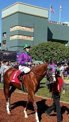 California Chrome with Alberto Delgado on board. Before Victor being his jockey there was Willie Delgado's brother Alberto.