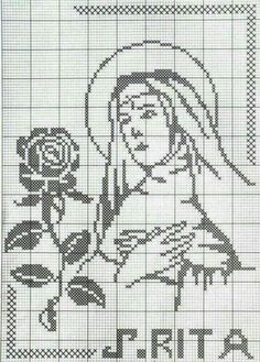 Learn to knit and Crochet with Jeanette: Filet Cross Stitch Pattern Maker, Just Cross Stitch, Cross Stitch Borders, Simple Cross Stitch, Cross Stitch Designs, Cross Stitching, Cross Stitch Embroidery, Cross Stitch Patterns, Sta Rita