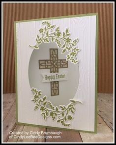 March 2018 Can you tell I LOVE the SU Hold on to Hope Bundle? Here is another fun fold card using the bundle with a video showing you how to make it! I used the Happy Easter sentim… Confirmation Cards, Baptism Cards, Vintage Birthday Cards, Christian Cards, Easter Cross, Communion, Fancy Fold Cards, Beautiful Handmade Cards, Mothers Day Cards