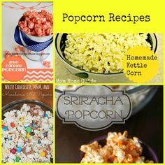 4 great homemade popcorn recipes! Yummy and easy!