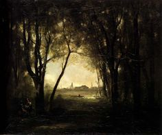 Jean-Baptiste-Camille Corot (Jean Baptiste Camille Corot): Landscape with a Lake