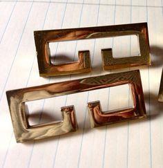 Vintage Brass Greek Key Hardware by livingstonandporter on Etsy, $28.00