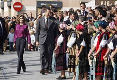 King Felipe VI of Spain and Queen Letizia of Spain visit 2015 Exemplary Town of Colombres on October 24, 2015 in Colombres, Spain. The village of Colombres was honoured as the 2015 Best Asturian Village.