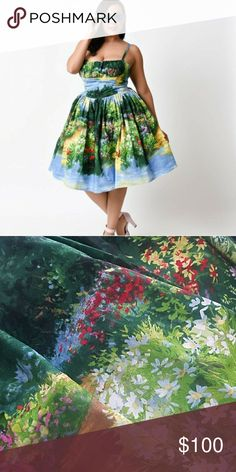 Bernie Dexter Serenity Bridge Paris Dress Absolutely gorgeous vintage dress. Sold out online. Reminds me of a Monet painting! BNWOT. Bought but never got to wear because I lost weight and it no longer fits:( But my loss is your gain! Bernie Dexter Dresses