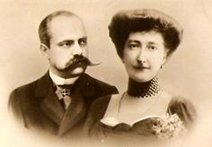 Victor, prince Napoléon et son épouse, née princesse Clémentine de Belgique