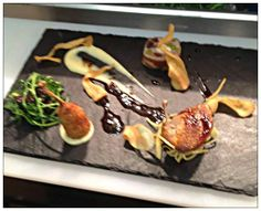 Our amazing Chef Stuart Bowes has been at it again! Making us hungry!! He has made Quail, Celeriac, Quince!