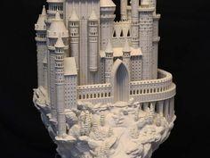 Medieval Castle 3D Printed Model Sculpture Printed in PLA Plastic - Desk Decor and Conversation Piece