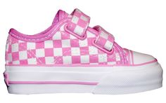 pink checkerboard vans