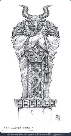Ancestor Ox Statue by Mark Gibbons » Галерея » World of Warcraft