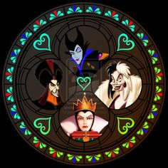 Disney World Stained Glass | villains_stained_glass_by_jeorje90-d380ctp