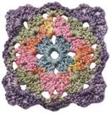 the square crochet motifs 144 circles hexagons triangles squares ...