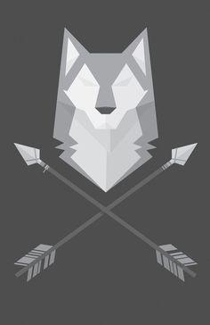 geometric wolf head - Google Search