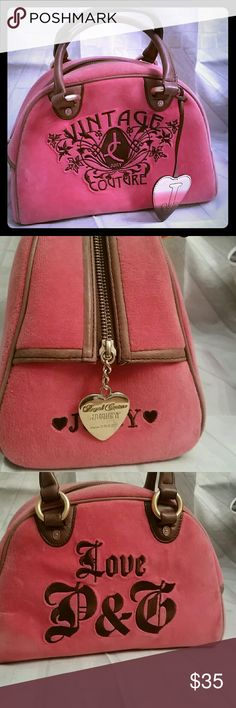 Juicy couture velour satchel purse Great condition. Like new. Used once. Juicy Couture Bags Satchels