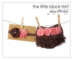 Brown and Pink Ruffles and Flowers Diaper Cover  with Matching Headband - Ruffle Bum, Ruffle Bloomer, TuTu Blooomer, Ruffle Butt. $36.00, via Etsy.