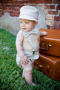 OMG! How stinkn cute is this!!!! Check out this Etsy store.   Baby Boy Diaper Cover Bow Tie and Suspender Set Great for Photo Props Brown Khaki Red fabric by Moda. $57.00, via Etsy.  @sostinkncute