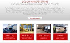 Neuer Internetauftritt:  Pünktlich zum Jubiläumsjahr haben LOSCH ihren Internetauftritt neu gestaltet und erweitert. Der strukturelle Aufbau und das anspruchsvolle Design der Webseite geben Ihnen eine klare Übersicht der Leistungen und Produkte.  www.loschwand.de