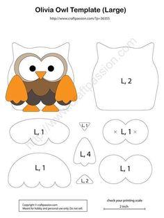 Felt Animal Patterns, Felt Crafts Patterns, Owl Patterns, Applique Patterns, Stuffed Animal Patterns, Stuffed Animals, Felt Owls, Felt Animals, Owl Crafts