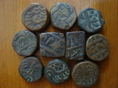 Old copper coins of ancient India Antique Coins, Old Coins, All Currency, Welding Art, African Jewelry, Ancient Artifacts, Coin Collecting, Copper, Stamp