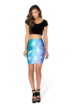 Down The Rabbit Hole Pencil Skirt by Black Milk Clothing $70AUD