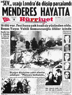 17 yılnıda Başbakan A Newspaper Headlines, Old Newspaper, Turkey History, Turkey Country, Newspaper Archives, Once Upon A Time, Sculpture Art, Istanbul, Past