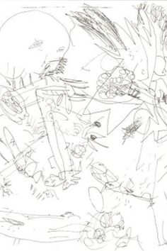 Andre Masson, Automatic Drawing #art #drawing #surrealist