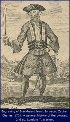 After receiving a pardon from Governor Charles Eden, the notorious pirate Blackbeard settled in Bath, NC with his 14th wife, but still maintained his life as a pirate on the high seas. ^cs
