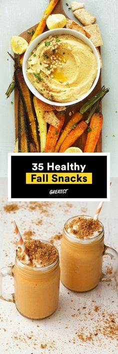Enjoy the best flavors of the season in these make-and-take bites. #healthy #fall #snacks http://greatist.com/health/fall-snacks