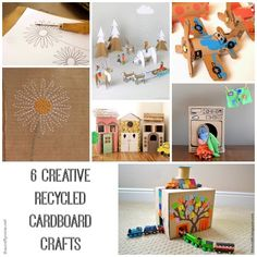 6 creative recycled cardboard crafts for kids