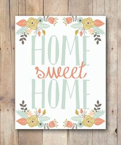 printable women gifts for mom - new home housewarming gift for her - inspirational quote - home quote - home sweet home wall art quote Kitchen Wall Art, Home Wall Art, College Student Gifts, College Dorm Decorations, Hand Drawn Lettering, Just Peachy, Inspirational Wall Art, Wall Art Quotes, Printable Wall Art