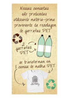 Como são feitas as nossas lindas camisas em malha PET!    http://www.revendaamaterra.com.br/loja/espaco-juliajulia