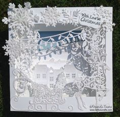 Tattered Lace Christmas Panorama Card AND How to Construct the Tattered Lace Panorama Card Base