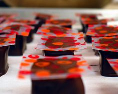 Decorating Tempered Dipped cHocolates by ChefTinaLuu, via Flickr