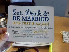 shower invites, another MOH specialty #wedding #invitations #yellow #navy @Megan Johnson