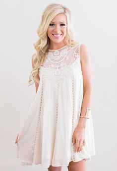 All of Me Lace Detail Dress – The Mason Jar Boutique