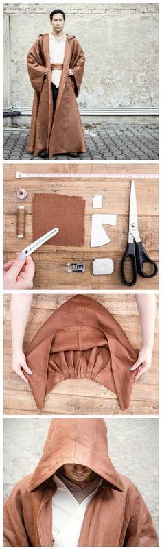 Kostenlose Nähanleitung: Näh Dir Deine eigene Jedi-Robe / free star wars diy tutorial: how to sew a jedi knight cape via DaWanda.com