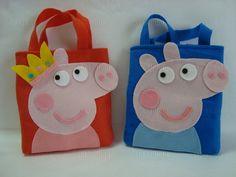 Lembrancinha/Sacola surpresa Peppa Pig e George Pig  Sacola surpresa infantil…